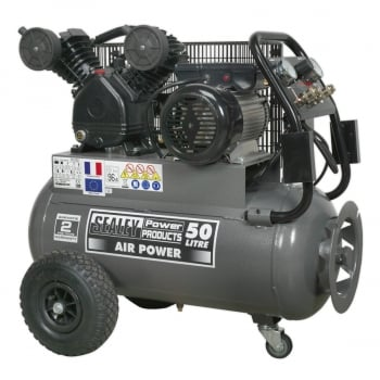 SAC3503B COMPRESSOR 50LTR BELT DRIVE 3HP WITH FRONT CO