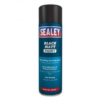 SCS026 BLACK MATT PAINT 500ML PACK OF 6