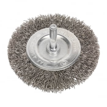 SFBS75 FLAT WIRE BRUSH STAINLESS STEEL 75MM WITH 6MM