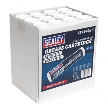 SGC12 GREASE CARTRIDGE EP2 LITHIUM 400G PACK OF 12