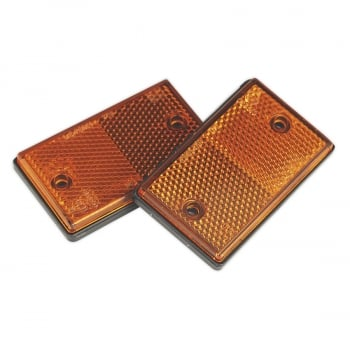 TB25 REFLEX REFLECTOR AMBER OBLONG PACK OF 2