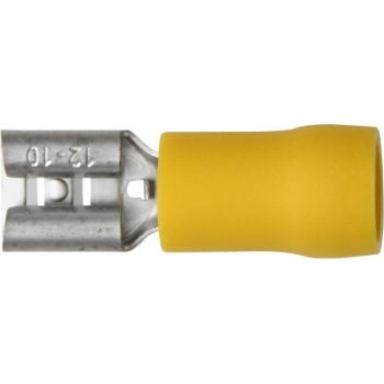 ET8 TERMINALS YELLOW PUSH-ON FEM 6.3MM