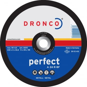 DCD37 DRONCO PERFECT CUT DISC FLAT 180 X 3.0