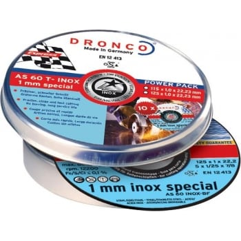 DCLP52 DRONCO INOX SPECIAL 125 X 1MM TIN 10