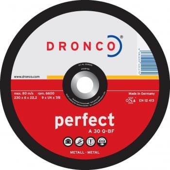 DGD10 DRONCO PERFECT GRINDING DISCS 230 X 6.0
