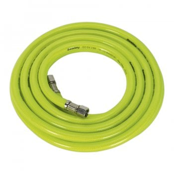 AHFC5 AIR HOSE HIGH VISIBILITY 5MTR X 8MM WITH 1/4