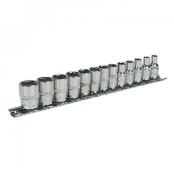 AK2691 SOCKET SET 13PC 1/4 SQ DRIVE 6PT WALLDRIVE