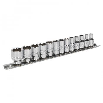 AK2746 SOCKET SET 13PC 1/4 SQ DRIVE LOCK-ON 6PT ME