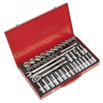 AK6941 SOCKET SET 46PC 1/2 SQ DRIVE 6PT WALLDRIVE
