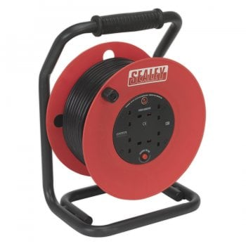 CR50/1.5 CABLE REEL 50MTR 4 X 230V 1.5MM HEAVY-DUTY T