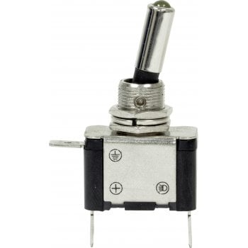 EC63 12V LED METAL TOGGLE SWITCHES AMBER