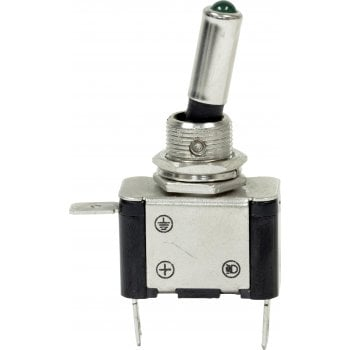 EC65 12V LED METAL TOGGLE SWITCHES GREEN