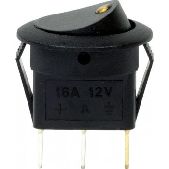 EC70 12V LED SPOT ROCKER SWITCHES AMBER