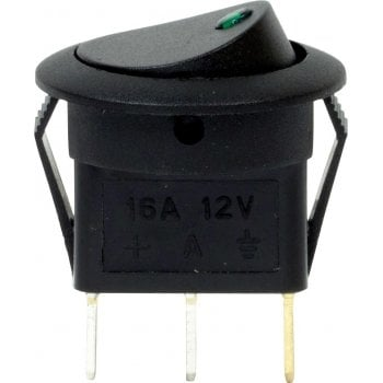 EC72 12V LED SPOT ROCKER SWITCHES GREEN