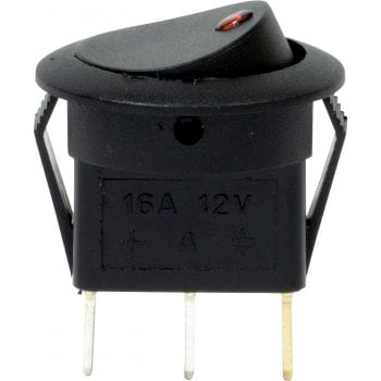 EC73 12V LED SPOT ROCKER SWITCHES RED