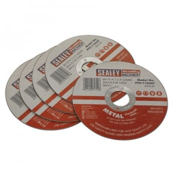 PTC/115CET5 CUTTING DISC 115 X 1.2MM 22MM BORE PACK OF 5