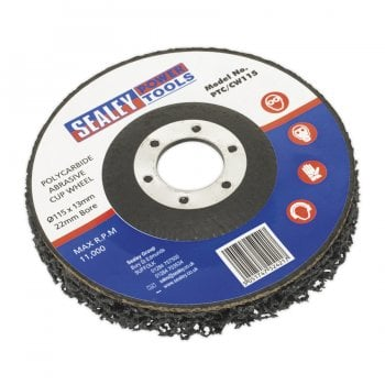 PTC/CW115 POLYCARBIDE CUP WHEEL 115 X 13 X 22MM