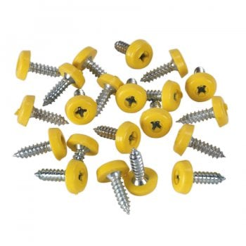 PTNP2 NUMBER PLATE SCREW PLASTIC ENCLOSED HEAD 4.8