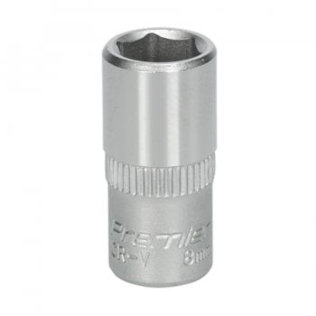 S1408 WALLDRIVE SOCKET 8MM 1/4 SQ DRIVE