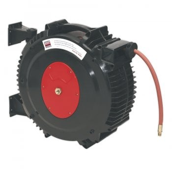 SA8812 RETRACTABLE AIR HOSE REEL 15MTR 13MM ID RUBB