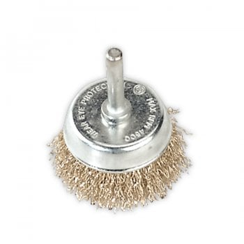 SCB50 WIRE CUP BRUSH 50MM WITH 6MM SHAFT