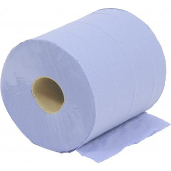 VC529 PAPER WIPES ROLL BLUE 2-PLY